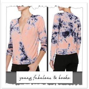 Young Fabulous & Broke Hamlet Tie Dye Wrap Top